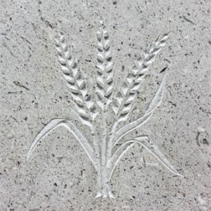 Wheatsheaf motif design by Hertfordshire Headstones