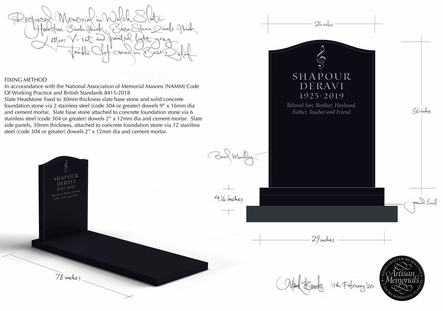Designing a memorial - Headstones, Gravestones and Grave Stones