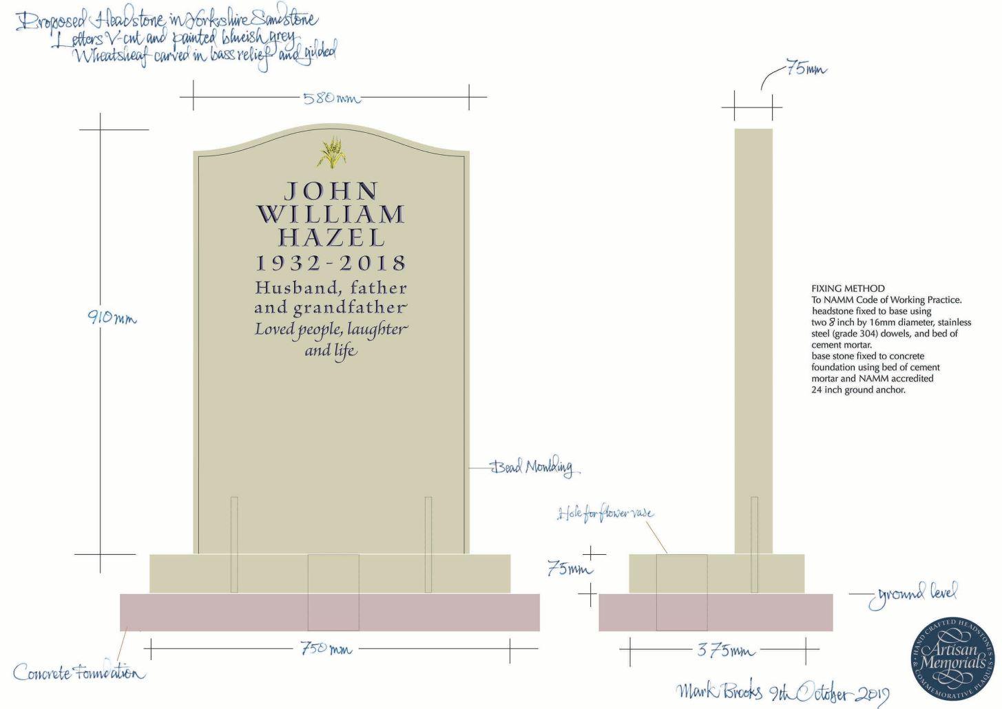 Gravestones and Grave Stones Hertfordshire Headstone designs