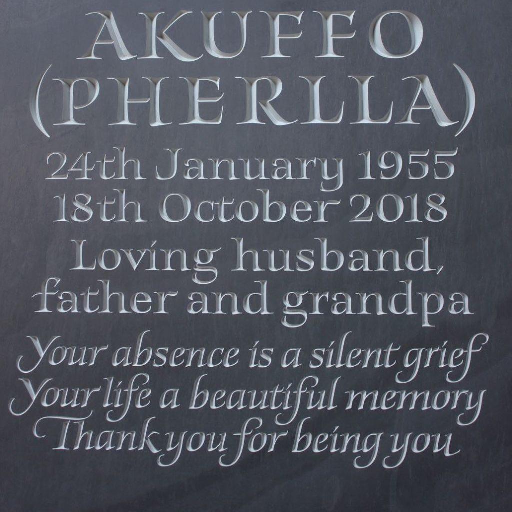 Memorial Lettering